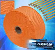 "360""/30Ft Thermo Heat Wrap Sheild Cover Header Exhaust Intake Manifold Orange"