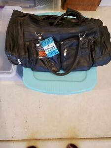 """New Embassy Leather Backpack Cart - Black 24"""" (without handle up) Reg. $159. NWT"""