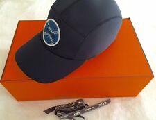NEW Authentic Hermes Mens Nevada Baseball Cap Black Neoprene Size 61 (XL) SAVE