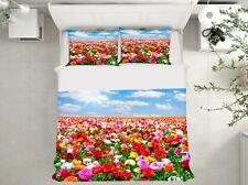3D Color Garden Nao413 Bed Pillowcases Quilt Duvet Cover Set Queen King Fay