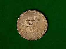 Moneda de 1 rublos con URSS Unión Soviética, Lev Tolstoi clásico escritor ruso. 1988