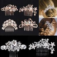Bridal Elegant Hair Comb Headpiece Pearl Crystal Rhinestone Wedding Party Gifts