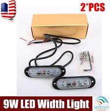 2pcs White 9W LED Long Strip Width Lights Running Light DRL Car Fog Driving Lamp