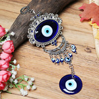 Turkish Oval Blue Evil Eye Amulet Car Wall Hanging Decor Blessing Protector Gift