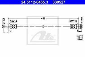 Flexible de frein RENAULT MASTER I Autobus/Autocar (T__) MASTER I Camion plate-f