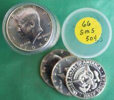 Full Roll 1966 SMS Half Dollar 40% Silver Kennedy Coins 20 50c in Tube