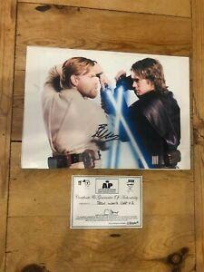 Anakin Skywalker vs Obi-Wan Kenobi signed Photograph Hayden Christiansen Ewan Mc