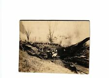 CLEARING WRECK OF A TRAIN NEAR ALTOONA PA 1916  POSTCARD #8760