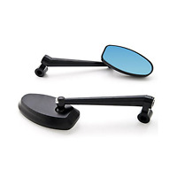 2x Black Dynamic CNC Side View Mirrors Triumph Street Triple 675 R Tiger 2011