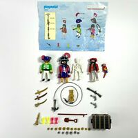 Playmobil Lot Of Pirates Treasure Chest Coins Weapons #3939 Geobra 1990 RETIRED