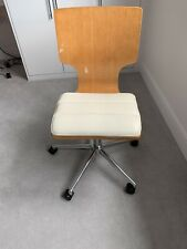 M&S Desk Chair Cream Leather Great Quality