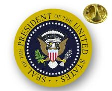 President of the United States Seal Lapel Pin Hat Cap Aluminum Clutch Back 1in