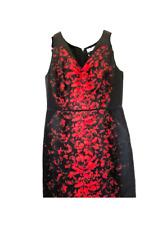 Carolina Herrera Black Floral Print Dress