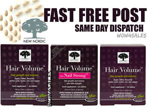 New Nordic Hair Growth Volume and plus Nail Strong Choose - 30 - 60 - 90 Tablets