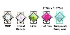 2pcs Colored Diamond Ribbon Watch Faces For Interchangeable Beaded Bands