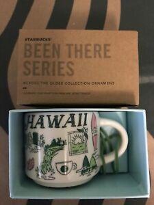 Starbucks 2oz HAWAII Demi Tasse BEEN THERE mug Ornament Cup Mini Mug NIB