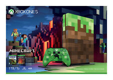 Xbox One S 1TB Console Limited Edition Minecraft 1000GB - Brand New