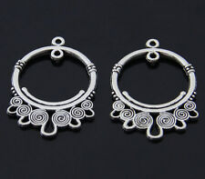 15pcs Tibet silver Polycyclic connector Jewelry finding Charm Pendant 22x33mm