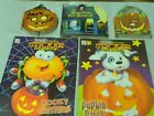 Kids Halloween Book Lot 2 Sticker Coloring Books and 3 Board Books ages 2-6 NEW