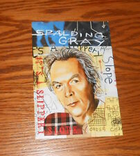 Spalding Gray It's a Slippery Slope Postcard 1998 Promo 6x4
