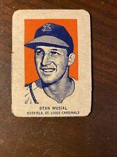 1952 Wheaties Card Stan Musial St. Louis Cardinals  RARE!