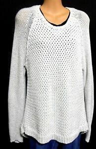 Tommy Hilfiger long line chunky jumper, soft hazy grey, sz. 14/L