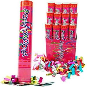 Party Popper Twist-to-Shoot Air Compressed Shooter Blaster Confetti 12""