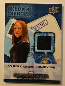 Marvel Know Heroes Wardrobe Costume Card Black Widow Scarlett Johansson