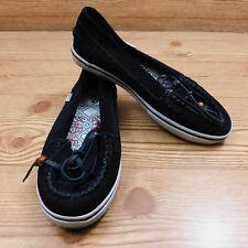 Vans Slip on Black Leather Loafer Mikalah Shoes Career Casual Comfort Womens 5.5