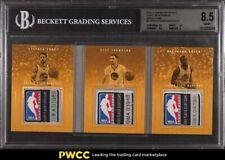 2016 Panini Preferred Stephen Curry Thompson Green NBA LOGO PATCH 1/1 BGS 8.5