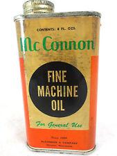 Vintage McConnon empty 8 oz Fine Machine Oil household handy oil can