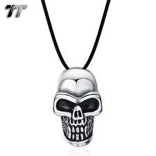 TT Mini Stainless Steel Skull Pendant Necklace (NP302) NEW