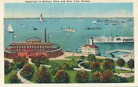 NEW YORK CITY – Aquarium in Battery Park and New York Harbor