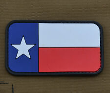 """PVC / Rubber Patch """"Texas Flag"""" with VELCRO® brand hook"""