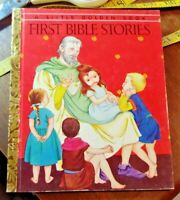 First Bible Stories A Little Golden Book Children's 1954 Vintage Jane Werner