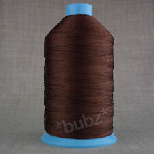 HEAVY DUTY BONDED NYLON 12 TKT  1,000m BROWN SEWING THREAD LEATHER CRAFT REPAIR