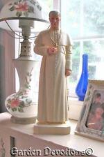 Pope St. Pius X Statue Plaster Chalkware 18 inch Statue Handpainted Handmade