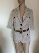Safari Jacket Size 12 Esprit Womens Tan Beige Pockets Holiday Cruise Safari