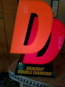Vintage 1960s Double Diamond DD Beer Pump Light Sign. Man Cave, Pubshed