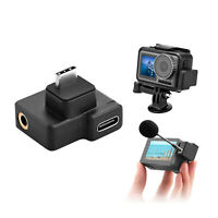 For DJI OSMO Action Camera 3.5mm Audio Adapter External mic mount Accessories