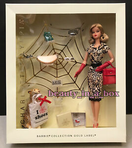 """Charlotte Olympia Barbie Doll Collector Gold Label Designer NRFB """""""