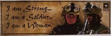 Bumper Window Sticker Military I Am a Strong Soldier Woman Warrior NEW Decal