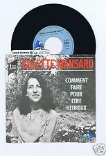 45 RPM SP COLETTE MANSARD COMMENT FAIRE POUR ETRE HEUREUX (H.GOUGAUD)