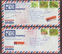 SINGAPORE 1990 REGISTERED ROTARY CLUB POLIO CAMPAIGN...2 COVERS