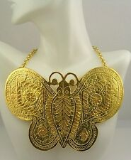 """Kenneth Jay Lane """" In Time""""  Butterfly Necklace"""