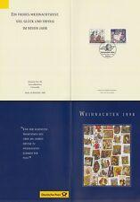 Mapa plegable navidad 1998 post ag, dirección general, prensa (con MINR. 2023+24)