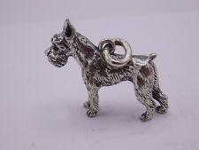 Terrier / Hund aus massiv Silber 835 Anhänger / Miniatur