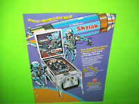 Williams SKYLAB Original 1974 Flipper Game Pinball Machine Promo Sales Flyer