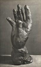 1949 Brassai Original Photo Gravure Of Pablo Picasso 1942 Bronze Hand Sculpture