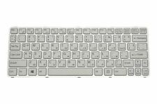 New Sony Vaio SVE1112M1EW Bulgarian White QWERTY Keyboard149102411